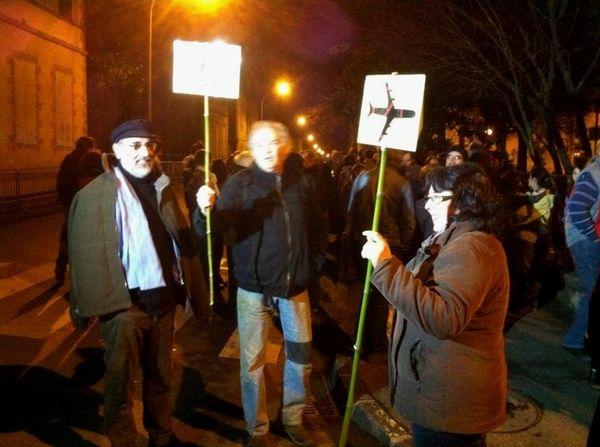 Une quarantaine de personnes manifestent devant la Préfecture de Vendée contre les expulsions de Notre Dame des Landes
