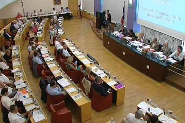 Montpellier - assemblée générale du conseil communautaire de l'agglomération - archives