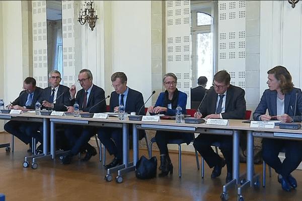 Élisabeth Borne, la ministre des Transports, à Rennes pour le pacte d'accessibilité de la Bretagne - 4/05/2018
