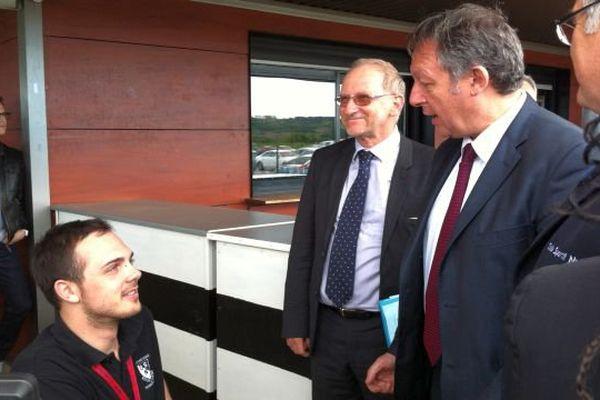 Corentin Le Guen (à gauche) a reçu la visite de Thierry Braillard.