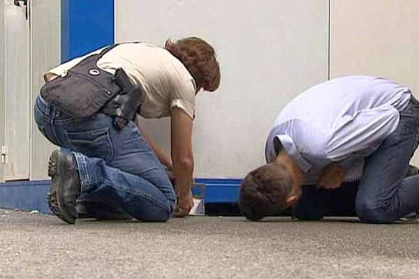 Montpellier - les policiers de la sûreté de l'Hérault cherchent des indices - 30 juillet 2015.