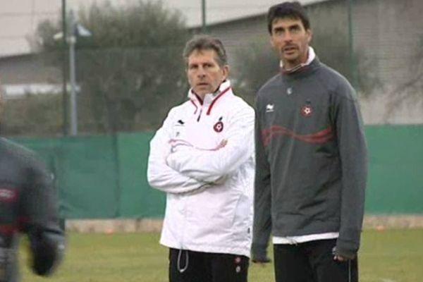 Claude Puel, l'entraîneur des Aiglons, ne veut plus entendre parler du classement