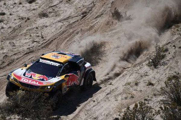 Le pilote haut-saônois Stéphane Peterhansel sur la 10e étape du rallye Dakar 2018, le 16 janvier 2018.