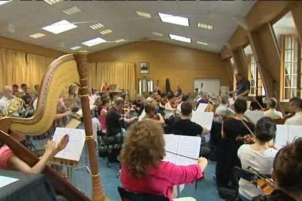 L'orchestre en répétition quelques jours avant la représentation