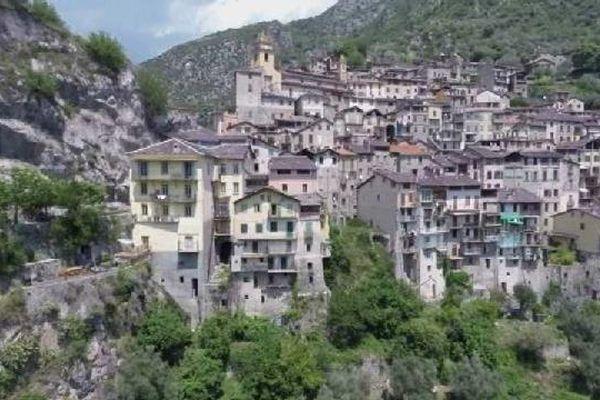 Le petit village de Saorge dans la Vallée de la Roya est l'une des 5 communes qui ne veut pas de gros camions dans la vallée.