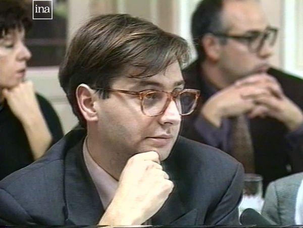 François Grosdidier, jeune conseiller municipal à Metz, en 1989