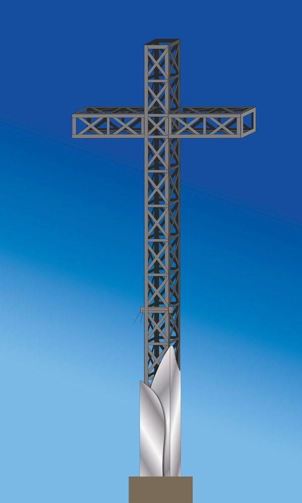 Maquette de la nouvelle croix du Pic Saint-Loup