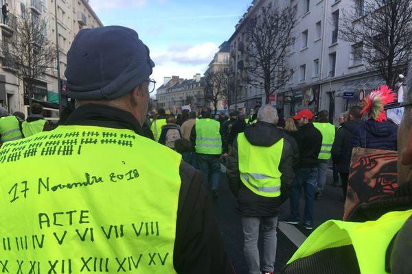 Manifestation gilets jaunes Caen 1er mars 2019