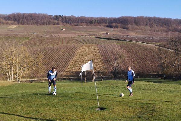 Le parcours de footgolf est situé à Romery près d'Epernay, dans la Marne.