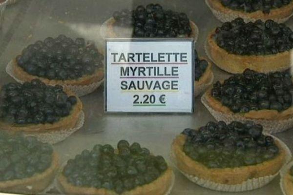 Une bonne tarte aux myrtilles pour le dessert...