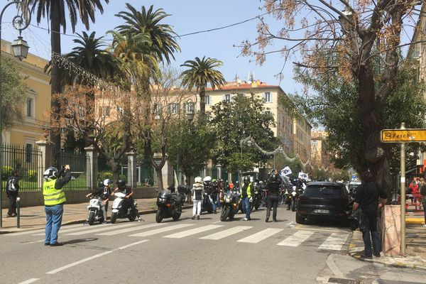 Manifestation à Ajaccio des motards contre les 80 km/h