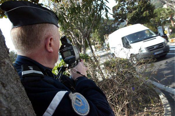 """La gendarmerie promet une série de cntrôles de vitesse sur """"les grands axes"""" du Calvados du 11 au 17 janvier 2021"""