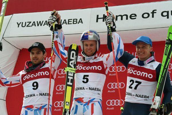 Le niçois Mathieu Faivre, à gauche sur le podium.