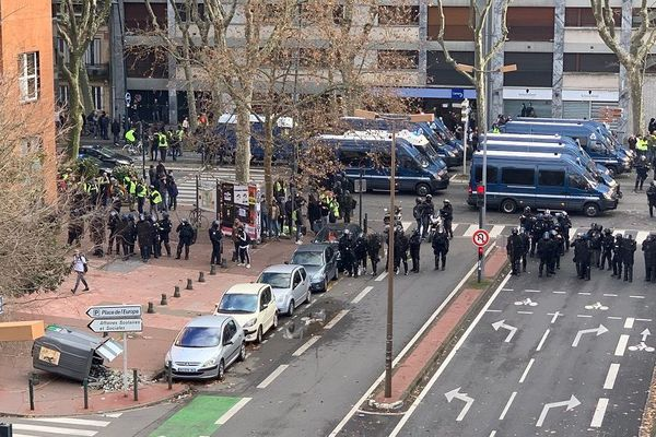 Des policiers en grand nombre