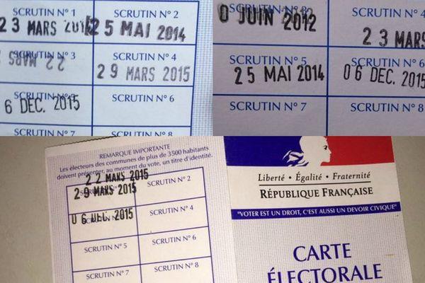 Des cartes d'électeur dûment tamponnées.