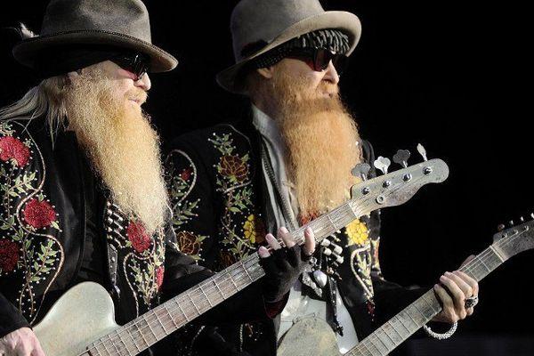 Dusty Hill et Billy Gibbons sur la scène du Hellfest - 23  juin 2013