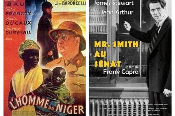 """""""L'Homme du Niger""""  de J.de Baroncelli et """"Mr Smith au sénat"""" de Franck Capra : deux des 25 films qui seront projetés pour le remake du Festival de Cannes 1939  à Orléans. Du 12 au 17 nov 2019"""