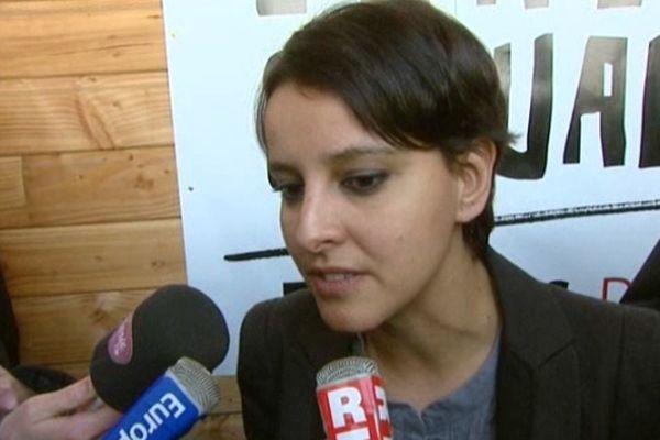 Najat Vallaud-Belkacem, ministre des Droits des femmes et porte-parole du gouvernement François Hollande