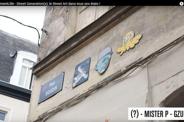 La rue Doudin à Lille, et ses célèbres graffitis