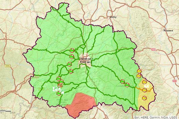 Jeudi 27 février, la circulation est parfois délicate sur les routes du Puy-de-Dôme.