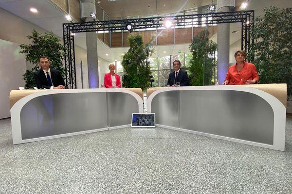 Les quatre candidats qualifiés pour le second tour des élections régionales dans le grand Est.