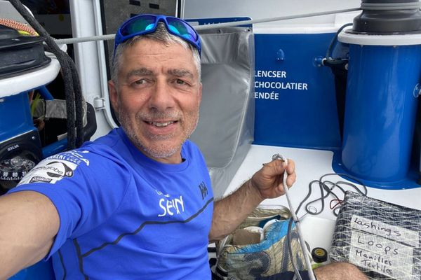 Manuel Cousin sur Groupe SETIN, Vendée Globe 2020