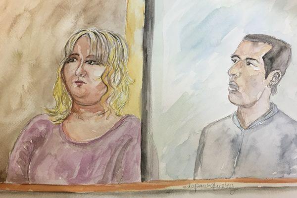 Cécile Bourgeon et Berkane Makhlouf lors de leur procès devant la Cour d'assises du Puy-de-Dôme.