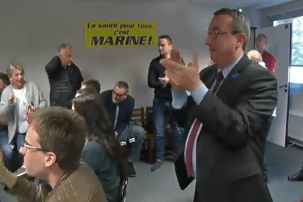 Au QG nantais de Marine Le Pen le 23 avril 2017