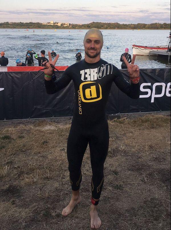 Freddy Pommier a pris des cours de natation pour compenser sa faiblesse dans cette discipline