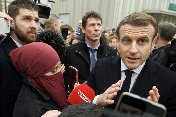 Emmanuel Macron à Mulhouse ce mardi 18 février 2020