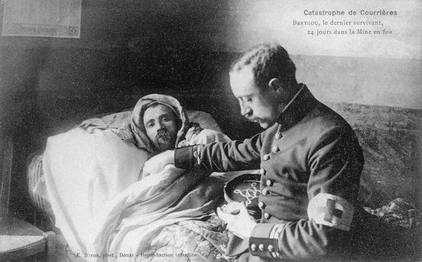 Auguste Berthou est le dernier survivant remonté à la surface, le 4 avril 1906.