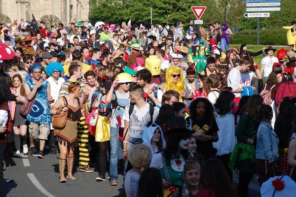 Le carnaval étudiant de Caen en 2014