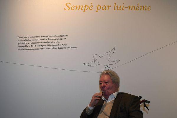 À 86 ans, Sempé dessine encore presque tous les jours.