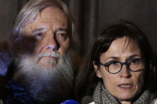 Cécile et Didier Noyer, les parents d'Arthur Noyer, tué par Nordahl Lelandais, à Chambéry.