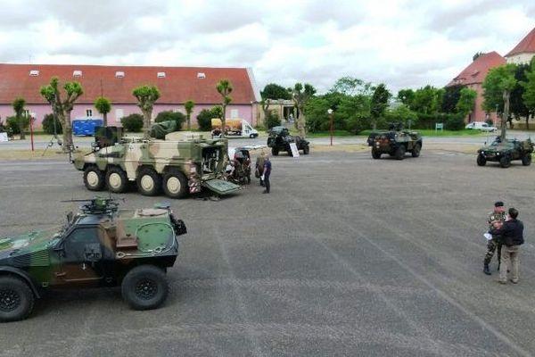 Présentation de matériel du 3ème Régiment de Hussards à l'occasion de ses portes ouvertes à Metz les 22 et 23 juin 2013.