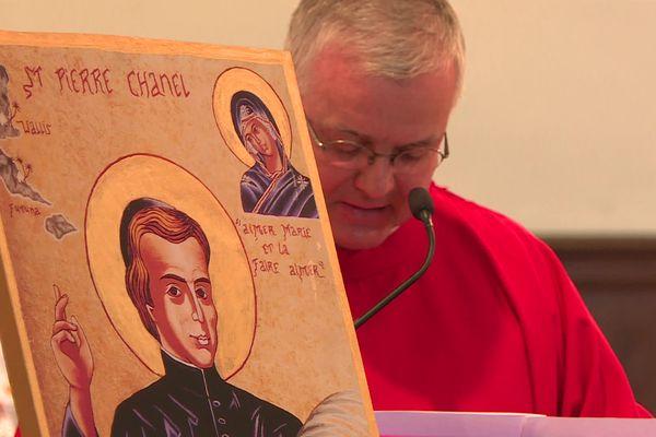 Une messe a été rendue en hommage à Saint Pierre Chanel, dan l'Ain, à Cuet