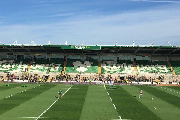 Quelques minutes avant le début du match entre l'ASM et Northampton, samedi 13 octobre, en Angleterre.