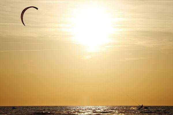 Kite-surf sur la Côte d'Opale