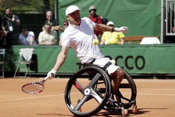 Stéphane Houdet, en 2014, à Roland-Garros.