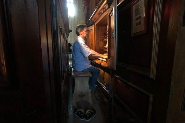 Yves Reishsteiner : organiste au festival de la Chaise-Dieu 2019.