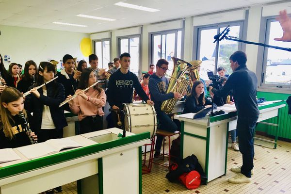 Classe orchestre du collège Sainte Marie à Fougères