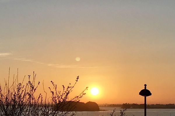 Coucher du soleil sur l'Île aux Moines