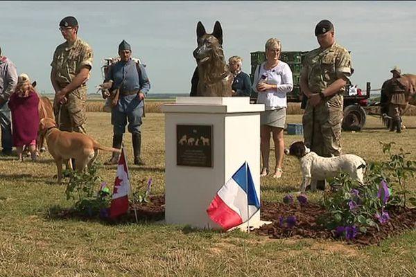 Inauguration du nouveau mémorial aux animaux morts pendant la guerre par the « Australian War Animal Memorial Organization ».