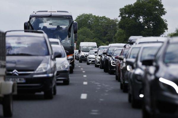 Des embouteillages sur l'A13.