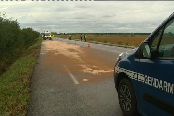 Les gendarmes procèdent ce matin aux constatations sur la chaussée