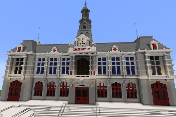 Pour reconstituer l'hôtel de ville, les joueurs ont passé près de 11 heures sur la construction.