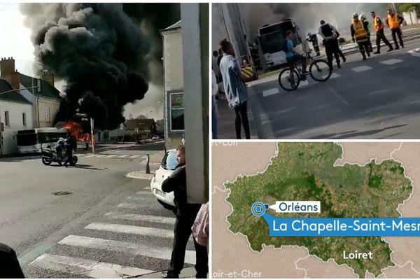 Explosions d'un bus TAO à la Chapelle Saint Mesmin dans le Loiret