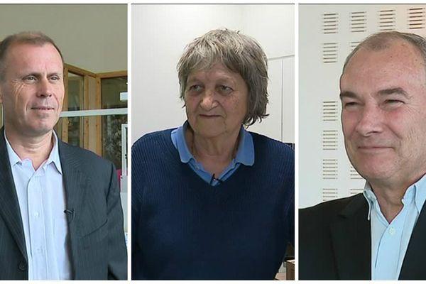 Thierry Bisiaux (PDG de Cryla), Michèle Guerrin (Présidente C-PME de Haute-Saône) et Jean-Luc Piton (Président Médef Territoires franc-comtois )
