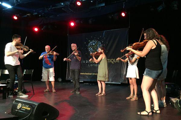 Séance de pratique du fiddle avec Patrick Rimes violoniste gallois