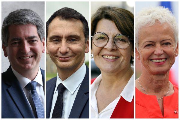 Têtes de liste du 2nd tour des élections régionales 2021 dans le Grand Est / Jean Rottner - Laurent Jacobelli - Eliane Romani - Brigitte Klinkert